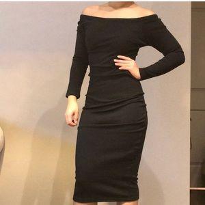 Zara Basic Off Shoulder Dress